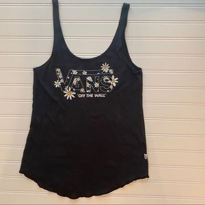 VANS |XS| Daisy Off the Wall Scoop Neck Tank Top